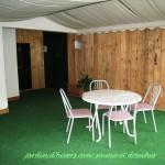 23 jardin d'hivers avec sauna et douches